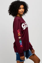 Load image into Gallery viewer, BTG x Staydium Long Sleeve T-shirt in Maroon