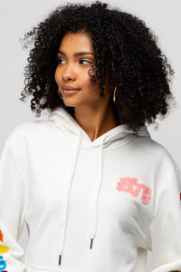 BTG x Staydium Terry Embroidered Hoodie in White