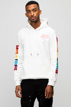 Load image into Gallery viewer, BTG Terry Embroidered Hoodie in White