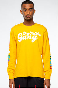 BTG x Staydium Long Sleeve T-shirt in Yellow