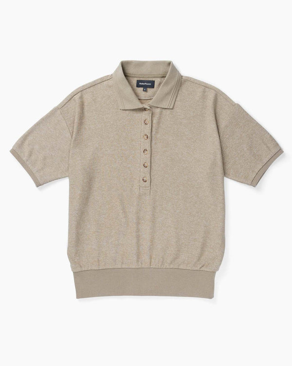 Cozy Knit Polo - Warm Grey