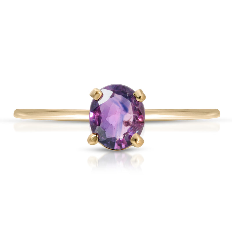 Purple Ceylon Saphire Oval Ring - BLVD