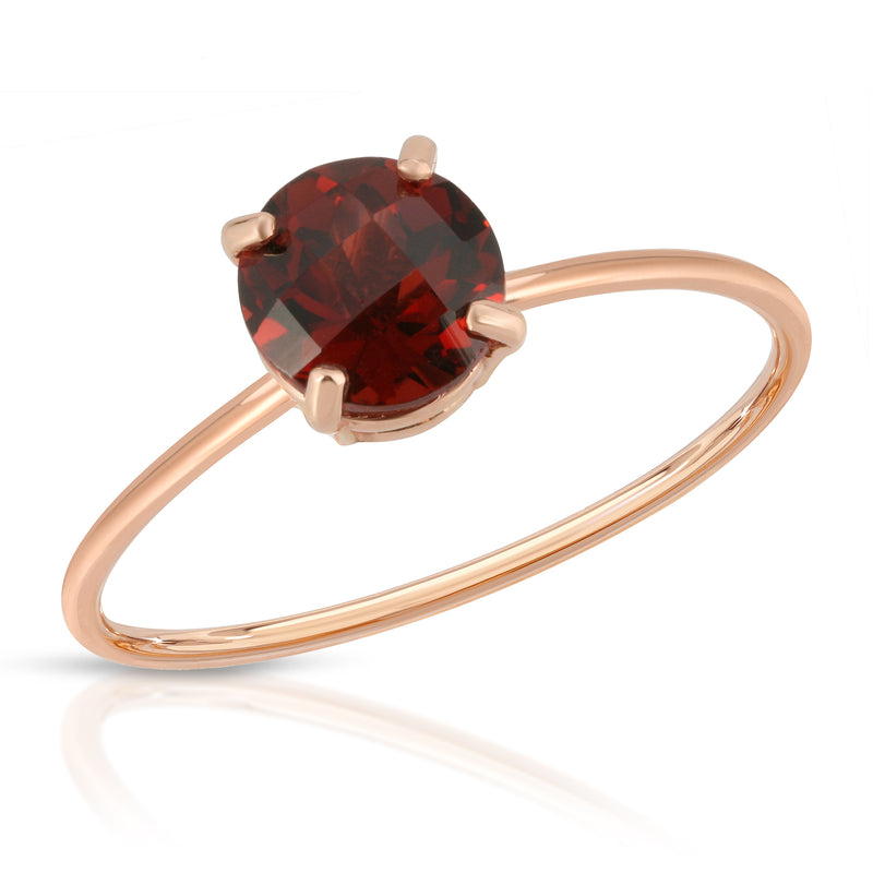 Red checkerboard garnet ring - BLVD
