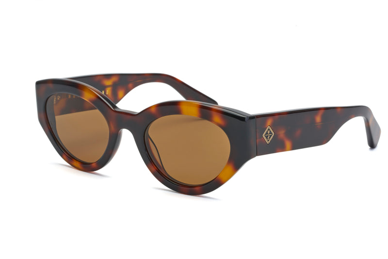 BOMBAY BEACH - Brown Tortoise / Bronze