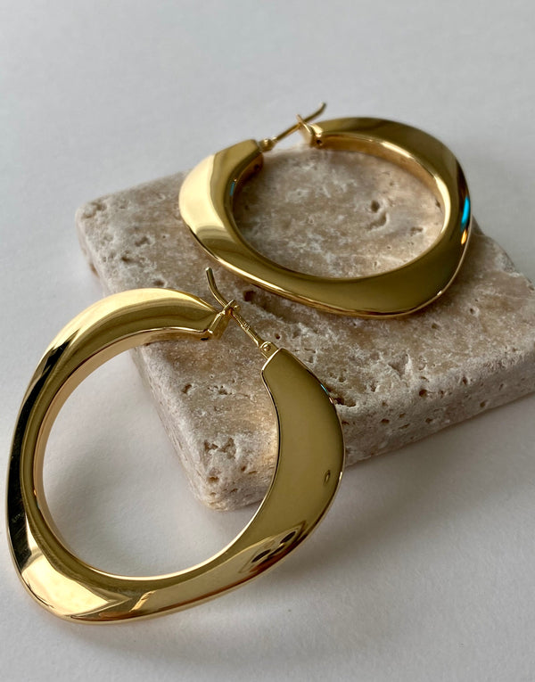 Structural 14K Hoops