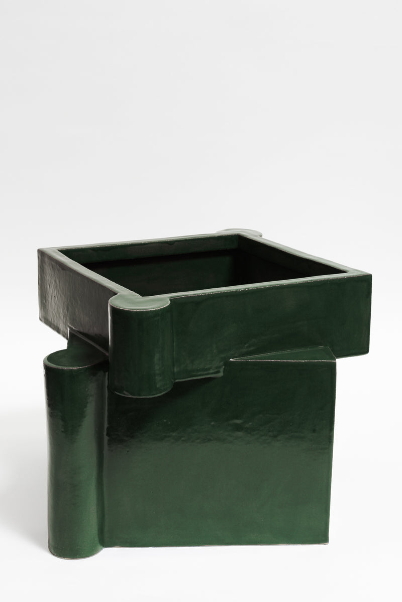Twisted Castle Planter - Chrome Green