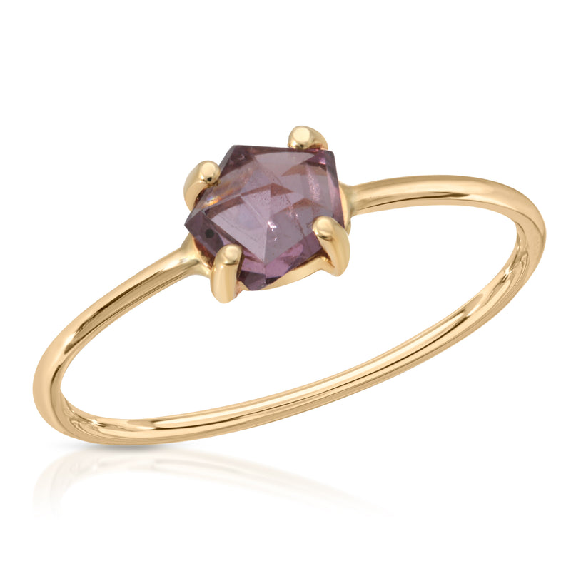 Bi Colored Purple-Pink Spinel Ring