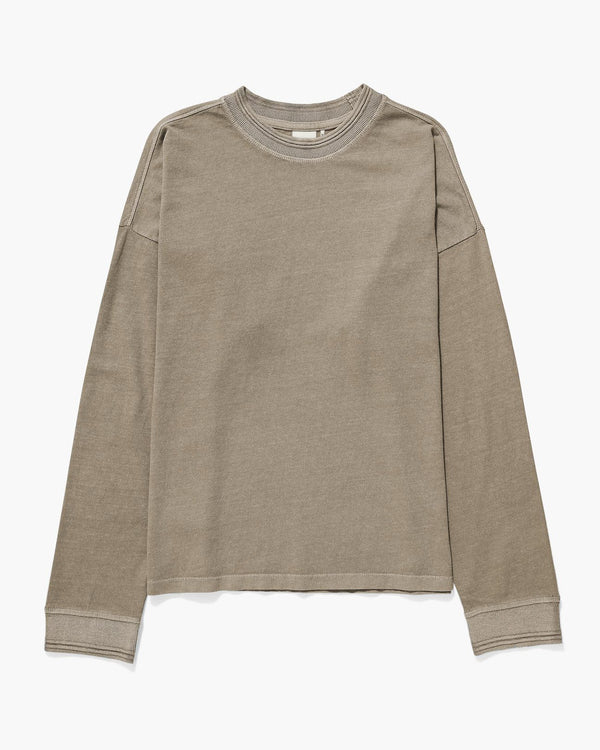 Women's Long Sleeve Relaxed Tee - Warm Grey