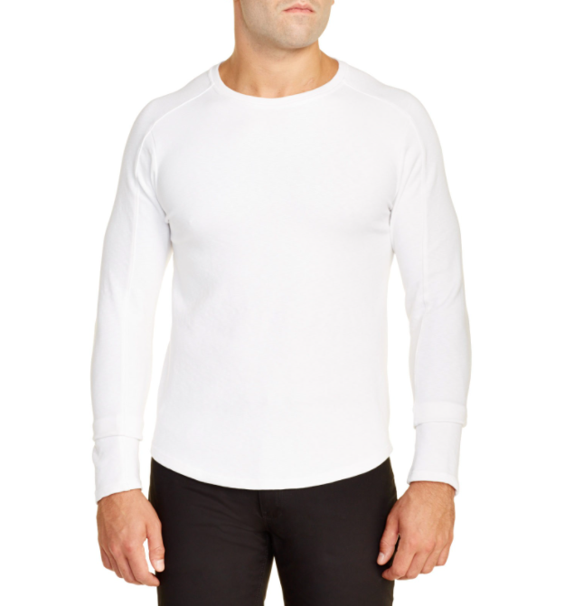 Douglas Slub Long Sleeve - White