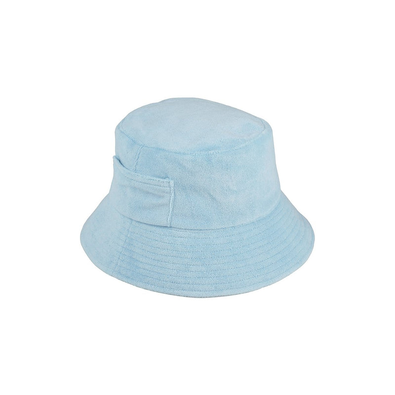 Wave Bucket - Aqua Terry, Baby Blue