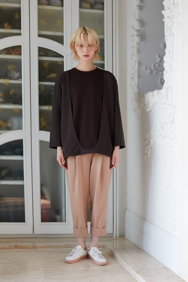 Pleated Trousers- Beige