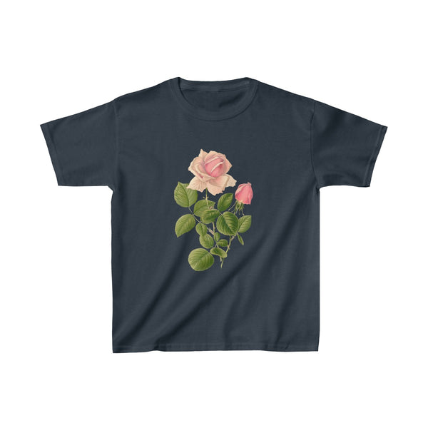 Pink Rose Kids Heavy Cotton™ Tee