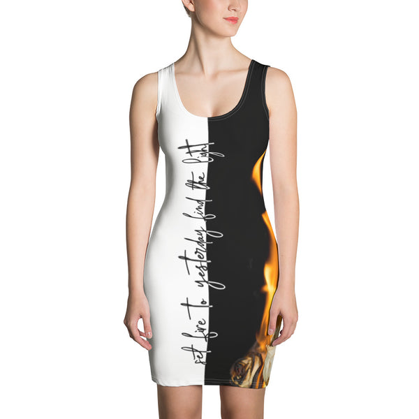 set fire to yesterday find the light bodycon dress