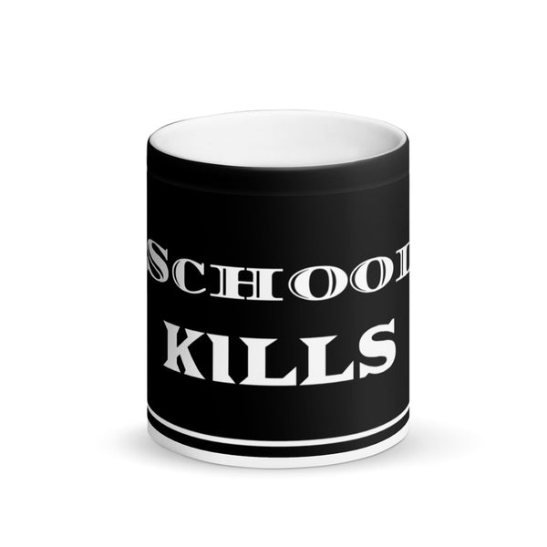 School KILLS Matte Black Magic Mug