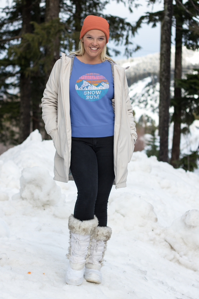 Snow Bum Wide Neck Sweatshirt