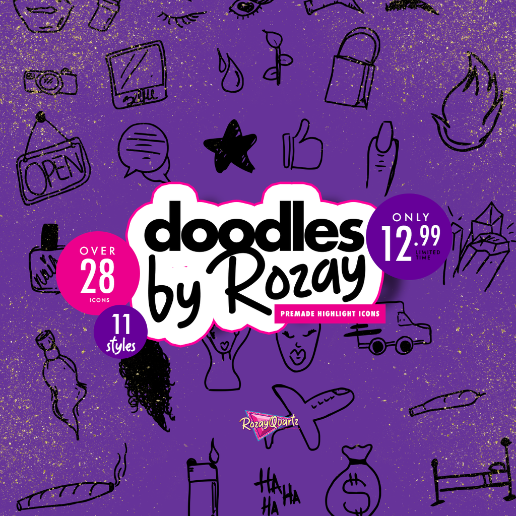 Doodles by Rozay (Highlight Icons)