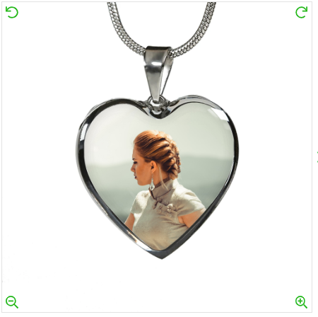 Customize The Placement of your Photo on the Heart Pendant