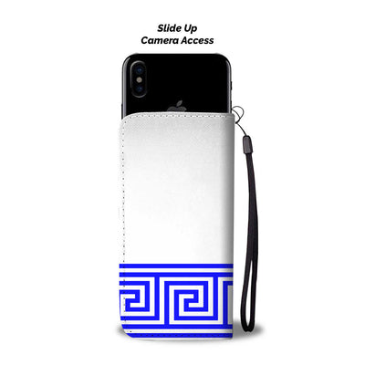 Greek Blue Waves Wallet Phone Case - buyepics - buy epic deals