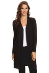 Elegant Ladies' Cardigan Long Open Front - buyepics - buy epic deals