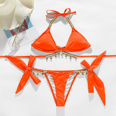 EPIC BIKINI SETS DECORATED WITH CRYSTALS 💎  CHAINS AND BOWS