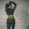 Women's 3 Piece Workout Outfit - Seamless High Waisted Leggings