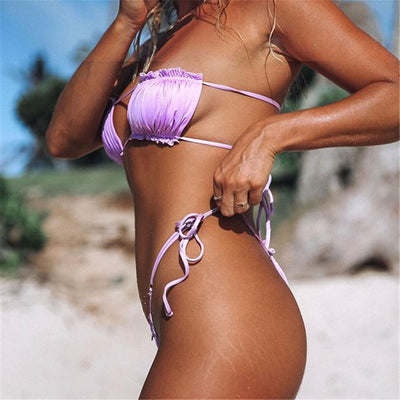 Sexy Parted Bandeau Bikini 😍 👙 -  - buy epic deals