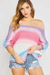 OMBRE VERSATILE DOLMAN TOP-PURPLE/BLUE - Tops & Blouses - buy epic deals