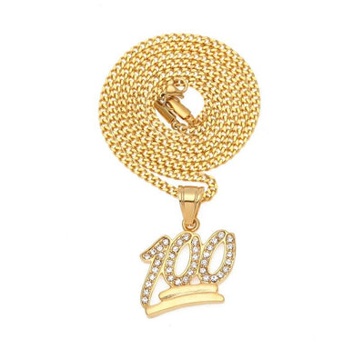 Gold Emoji 0 Logo Pendant Necklace - Pendant - buy epic deals