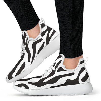 White  - Black and White Animal Pattern Mesh Knit Sneakers -  - buy epic deals