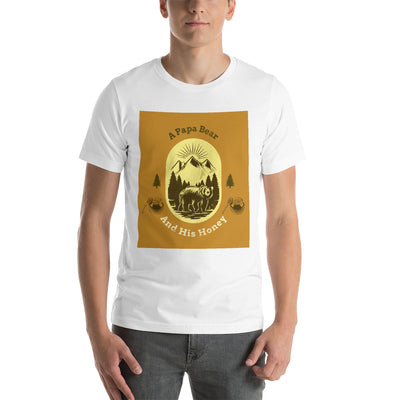 A Papa Bear And His Honey Short-Sleeve Unisex T-Shirt -  - buy epic deals