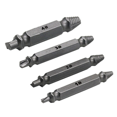 4 Piece Set Damaged Screw Extractor Drill bits -  - buy epic deals