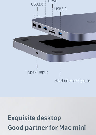 USB-C Hub with SATA Hard Drive Enclosure for Mac Mini or Mac Book Pro - Accessories - buy epic deals
