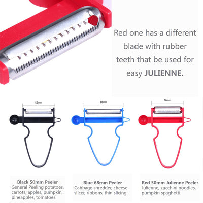 3 Piece Peeler Set Slicer Shredder Peeler Julienne Cutter Stainless Steel Blade Set - buyepics.com