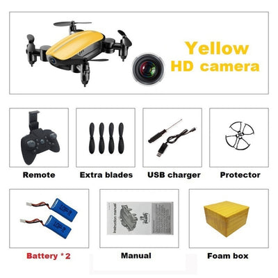 Foldable Mini Drone with HD Camera Radio Controlled Quadcopter with Altitude Hold - Accessories - buy epic deals