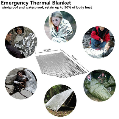 Emergency Survival Outdoors Camping First Aid Tool Kit with Whistle Blanket and Knife -  - buy epic deals