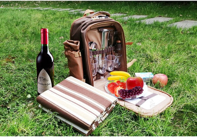 Picnic Backpack with Cutlery for 4 and Wine Bottle holder comes with Picnic Blanket - Accessories - buy epic deals