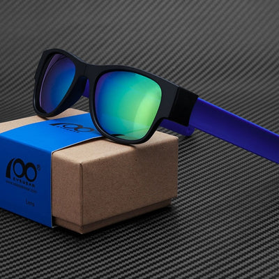 Polarized Mirrored Folding Sunglasses Color that snap to your wrist. - buyepics - buy epic deals