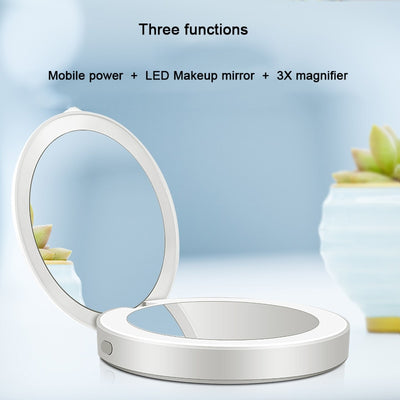 Portable Folding LED Compact Makeup Mirror That Charges Your Smart Phone -  - buy epic deals