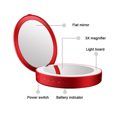 Portable Folding LED Compact Makeup Mirror That Charges Your Smart Phone - buyepics - buy epic deals
