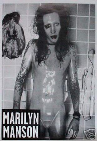 Marilyn Manson Sick Shower, Poster