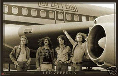 Led Zeppelin Plane, Poster