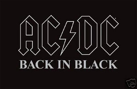AC-DC Black in black Art, Poster