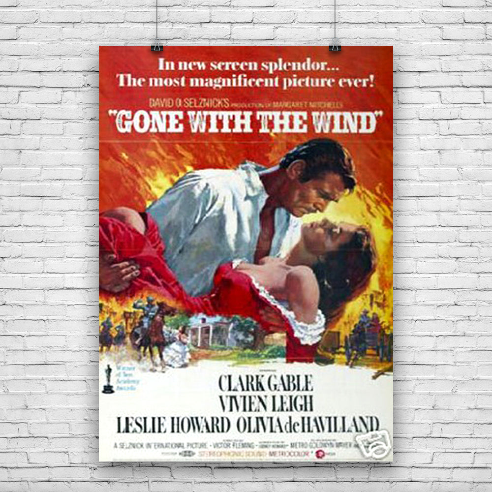 Gone with the wind Clark Gable Poster