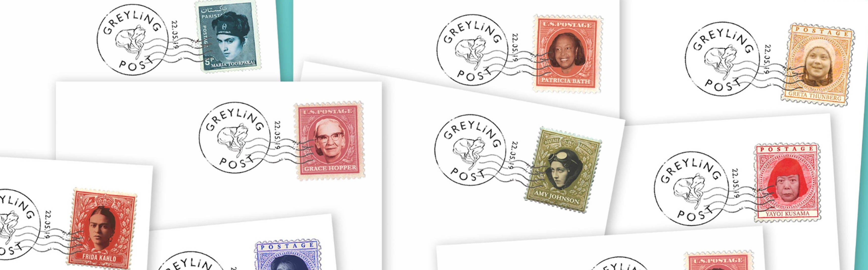 stamps, greta thunberg, greyling post, cards to care homes