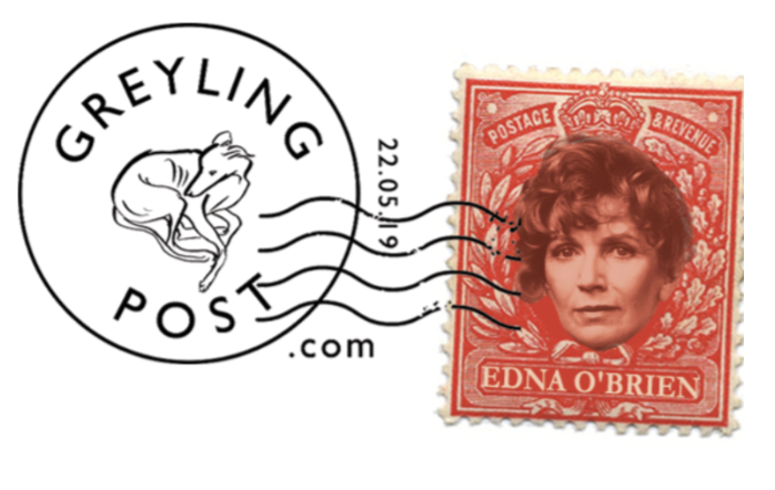 Edna O'Brien, Greyling Post, Cards to care homes, Greyling Post Stamp