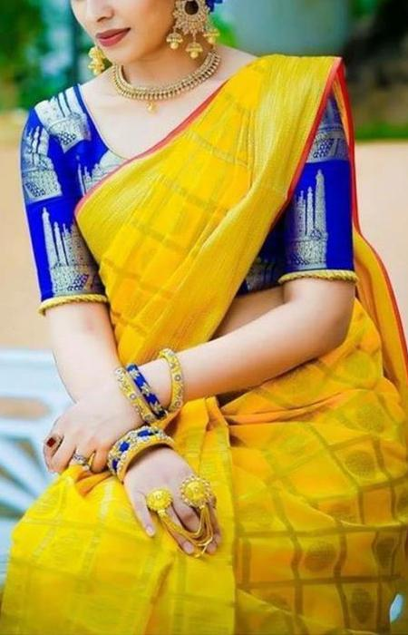 Attractive Yellow Color Soft Silk Designer Saree FN08