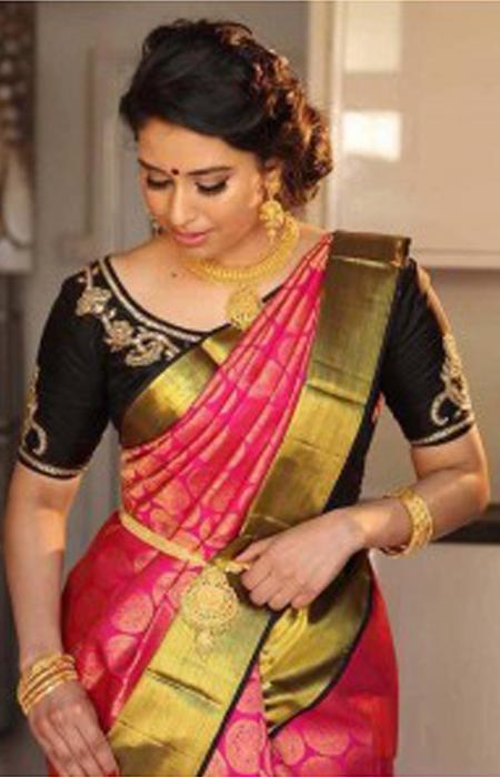 Amazing multi Color Designer zarna silk saree FN2612