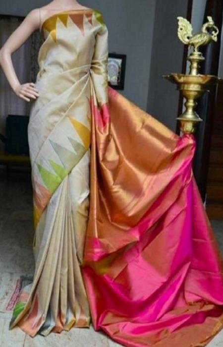 Simpatico Multi Color Soft Silk Saree FN807