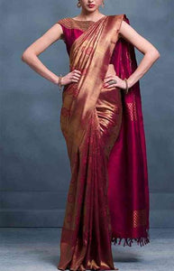 Admirable Brown Color Designer Soft Silk Saree SC3200