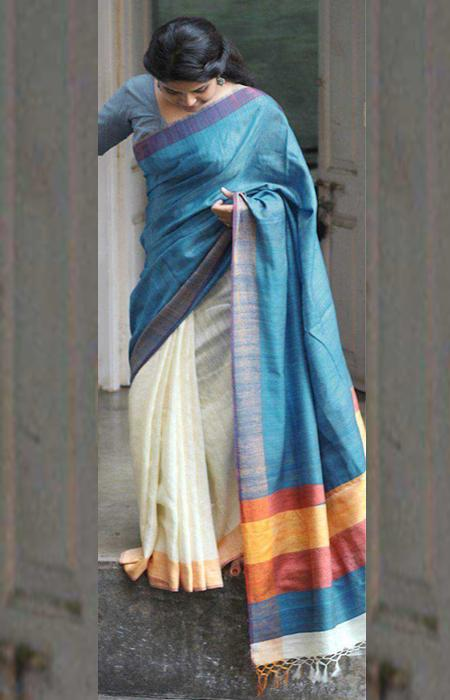 Elegance Mluti Color Designer Soft Silk Saree SC3206